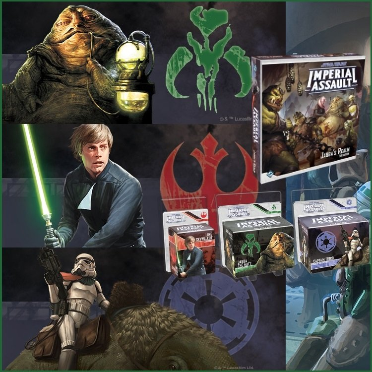 Star Wars Imperial Assault: Jabba's Realm + Figure Packs Bundle