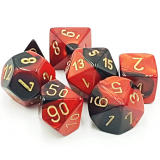 Chessex Gemini Polyhedral 7-Die Set (Black-Red-Gold)