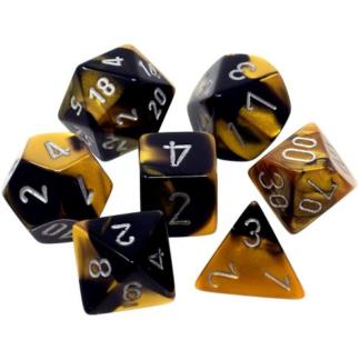 Chessex Gemini Polyhedral 7-Die Set (Black-Gold-Silver)